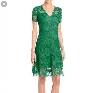 Elite Tahari Green Lace Dress